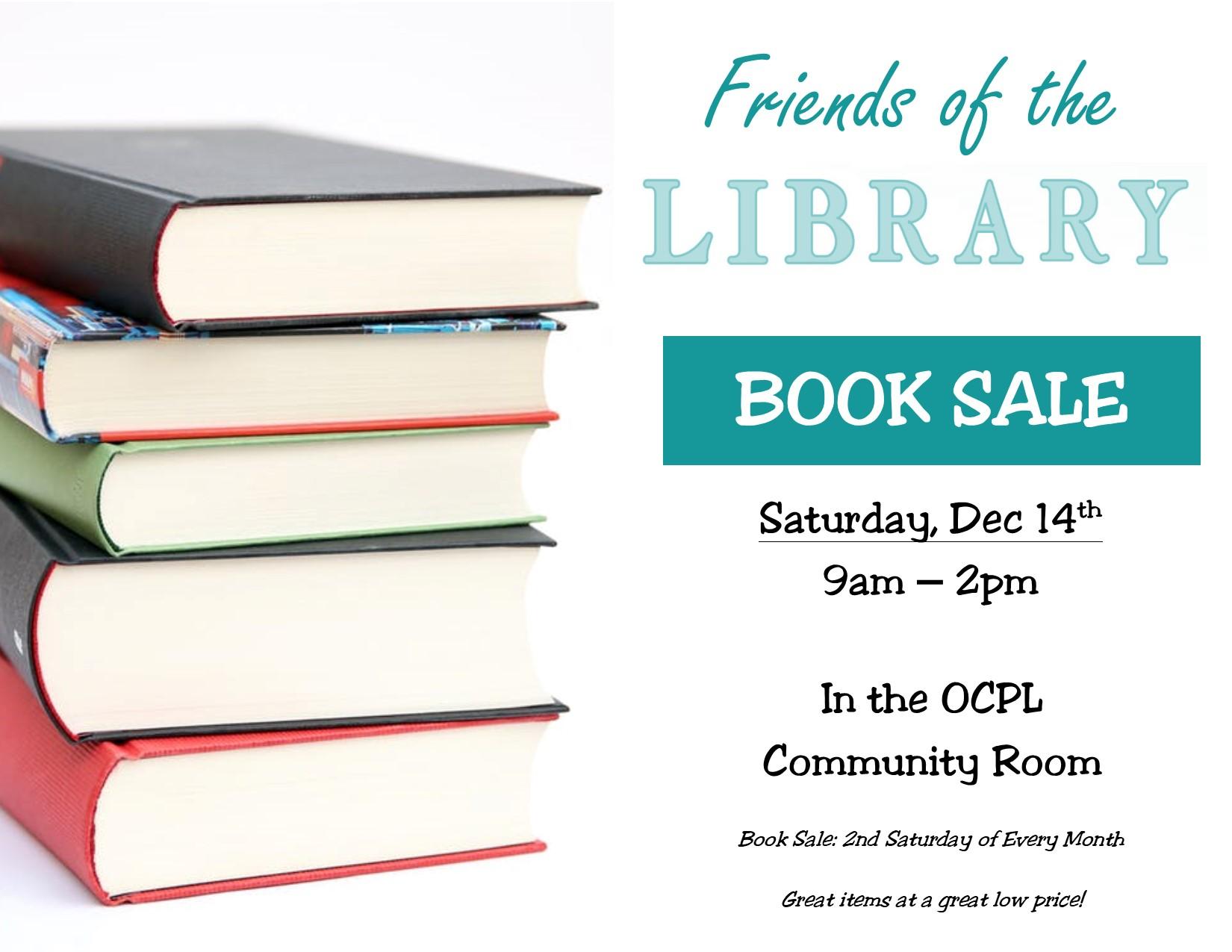 book sale flyer, dec 14th