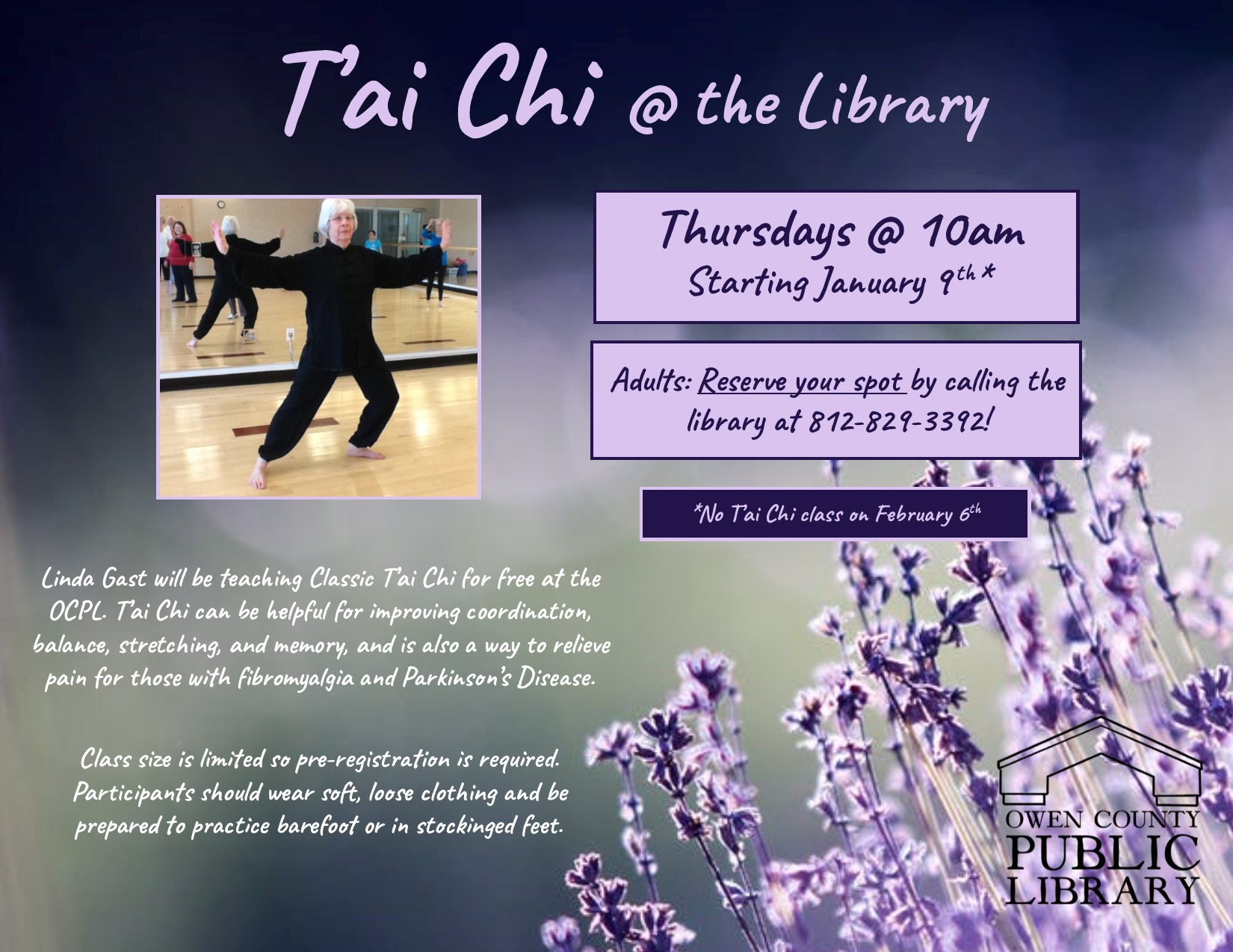 t'ai chi at the library