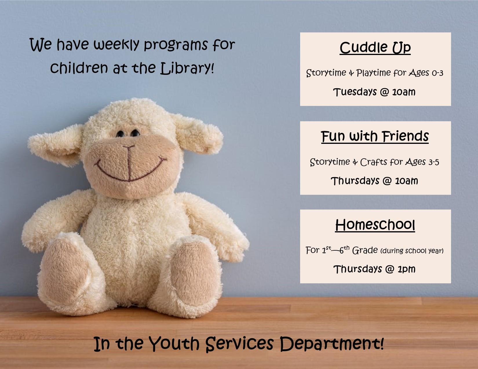 weekly ys programs, 2020 flyer